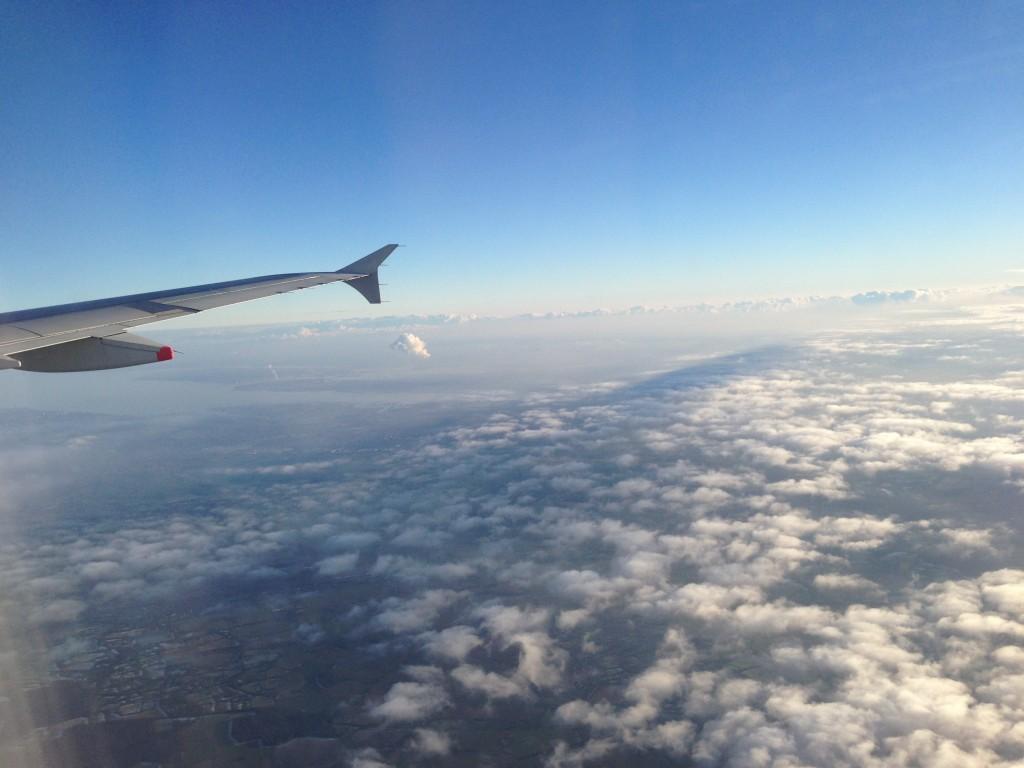 On flight to Schipol, Holland