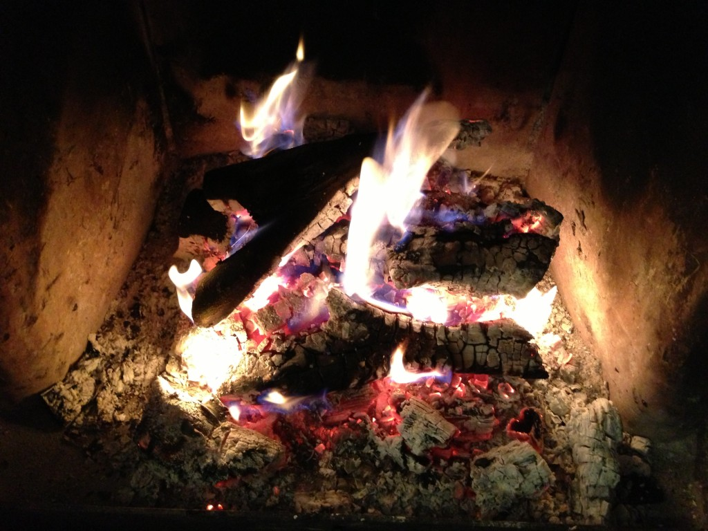 Between -9 and -11 outside, fire is good!