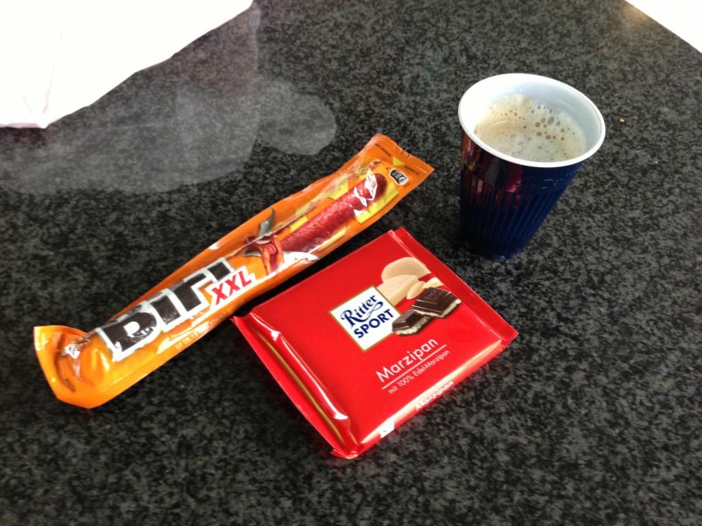 Service station snacks